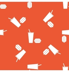 Orange fast food pattern vector