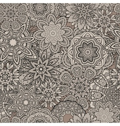 Ornamental vintage Floral elements seamless vector image