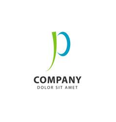 P company logo template design vector