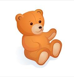 Plush bear vector