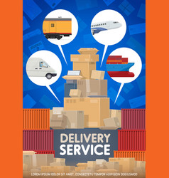 post mail delivery and shipping logistics service vector image