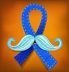 Prostate cancer blue vector