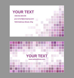 Purple abstract business card template design vector