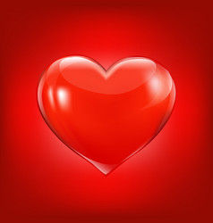 red background with heart vector image