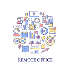 remote office abstract color concept layout vector image