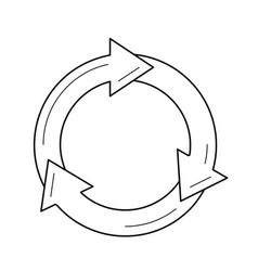 Reuse and refresh symbol line icon vector