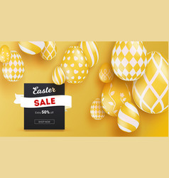sale for easter holidays realistic 3d easter eggs vector image