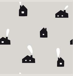 scandinavian geometric seamless pattern vector image