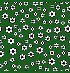 seamless pattern with soccer balls hexagon vector image