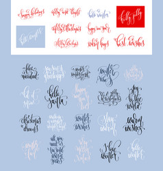 set of 30 hand lettering inscription text to vector image
