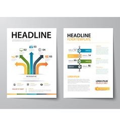 Set of business magazine cover flyer brochure fla vector