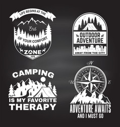 set outdoor adventure inspirational quote vector image