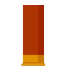 Shotgun red cartridge icon flat style vector