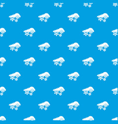 Snowflake pattern seamless blue vector