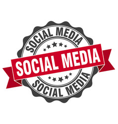 Social media stamp sign seal vector