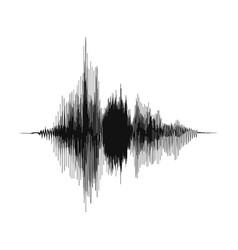 sound wave voice recording concept and music vector image
