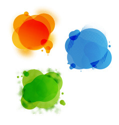 Speech colourful bubble set vector