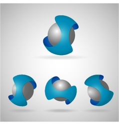 Sphere blue vector