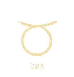 taurus zodiac sign horoscope symbol vector image