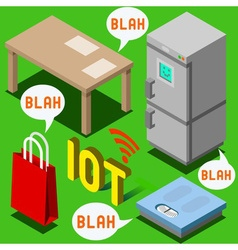 The Chatter of Things - Isometric Internet of vector image