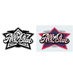 Two templates with calligraphic inscription all vector