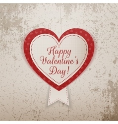 Valentines Day realistic Heart Banner with Text vector