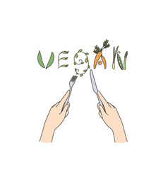 vegan food and dieting concept vector image