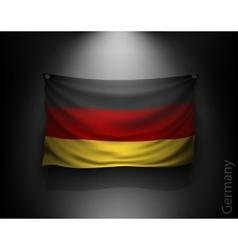 waving flag germany on a dark wall vector image