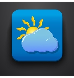 Weather symbol icon on blue vector image
