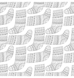 Winter knitted ethnic Sock for gift from Santa vector image