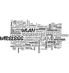 Wireless lan and laptop computers text word cloud vector