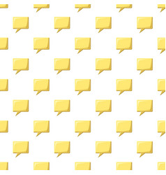 Yellow speech bubble square shape pattern vector