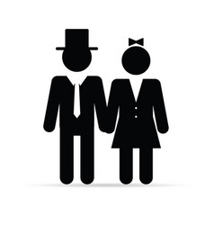 couple young in black color vector image vector image