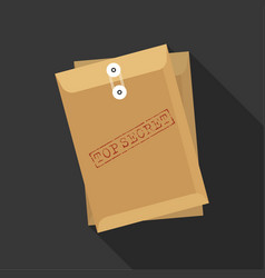 envelope with stamp top secret vector image