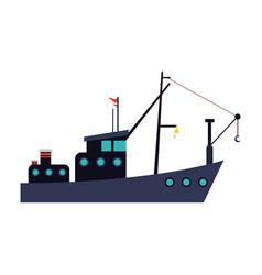 fishing boat icon vector image vector image