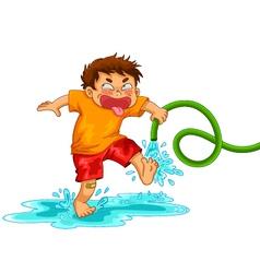 mischievous boy vector image