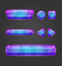 Set of button for game design - 8 vector image vector image