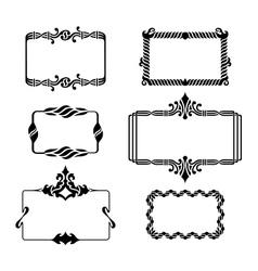 Set of vintage graphic frames vector image vector image