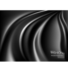 smooth elegant luxury black vector image