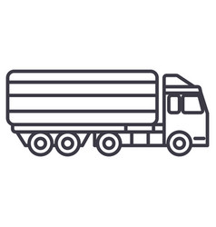 truck delivery line icon sign vector image vector image