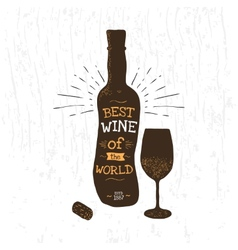Wine bottle vector image vector image