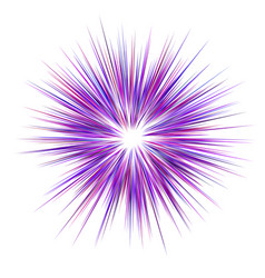 abstract purple explosion design background vector image