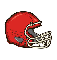 american football helmet isolated equipment game vector image