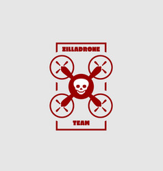 drone quadrocopter icon emblem vector image vector image