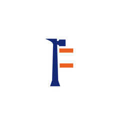f letter repair logo vector image vector image
