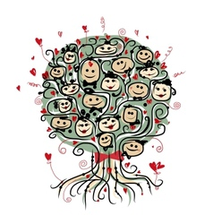 Party tree with ladies and gentlemen for your vector image