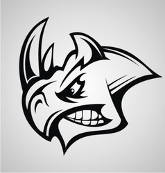 Rhino Head Tattoo vector image