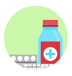 cold treatment icon vector image vector image