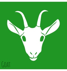 The Goat Silhouette Isolated on Background vector image vector image