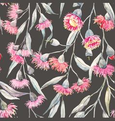 watercolor eucalyptus pattern vector image vector image